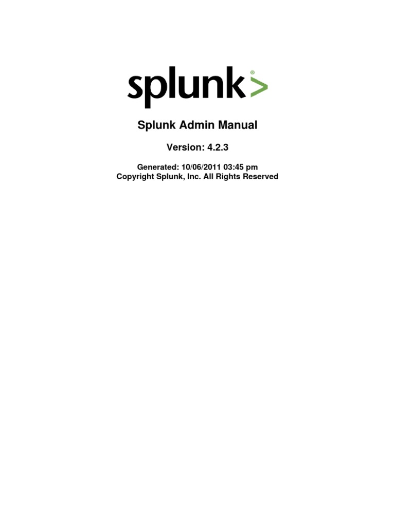 Splunk 4 2 3 Admin | Command Line Interface | Backup