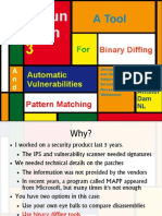 EUSecWest 2010 - DarunGrim - A Tool for Binary Diffing and Automatic Vulnerabilities Pattern Matching
