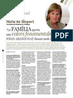 Entrevista a Núria de Gispert