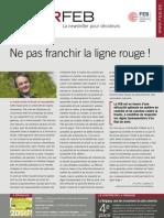 Ne pas franchir la ligne rouge !, Infor FEB 3, 26 janvier 2012