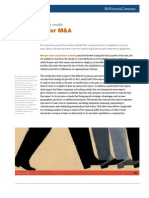 Organizing for M&A