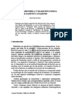 9. TRADICIÓN HISTÓRICA Y TRADICIÓN ETERNA. DE GANTVET Y UNAMUNO, JUAN CRUZ CRUZ