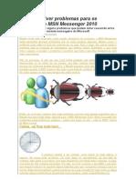 Como Resolver Problemas Para Se Conectar Ao MSN Messenger 2010