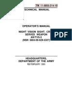 Tm 11-5855-214-10 Operator Manual Csw Nv Antvs5