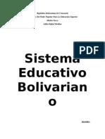 Sistema Educativo Bolivariano Dannys....