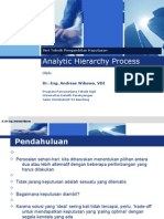 Ahp by Dr Ing Andreas Wibowo
