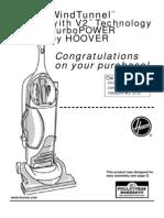 Hoover Wind Tunnel V2 Manual