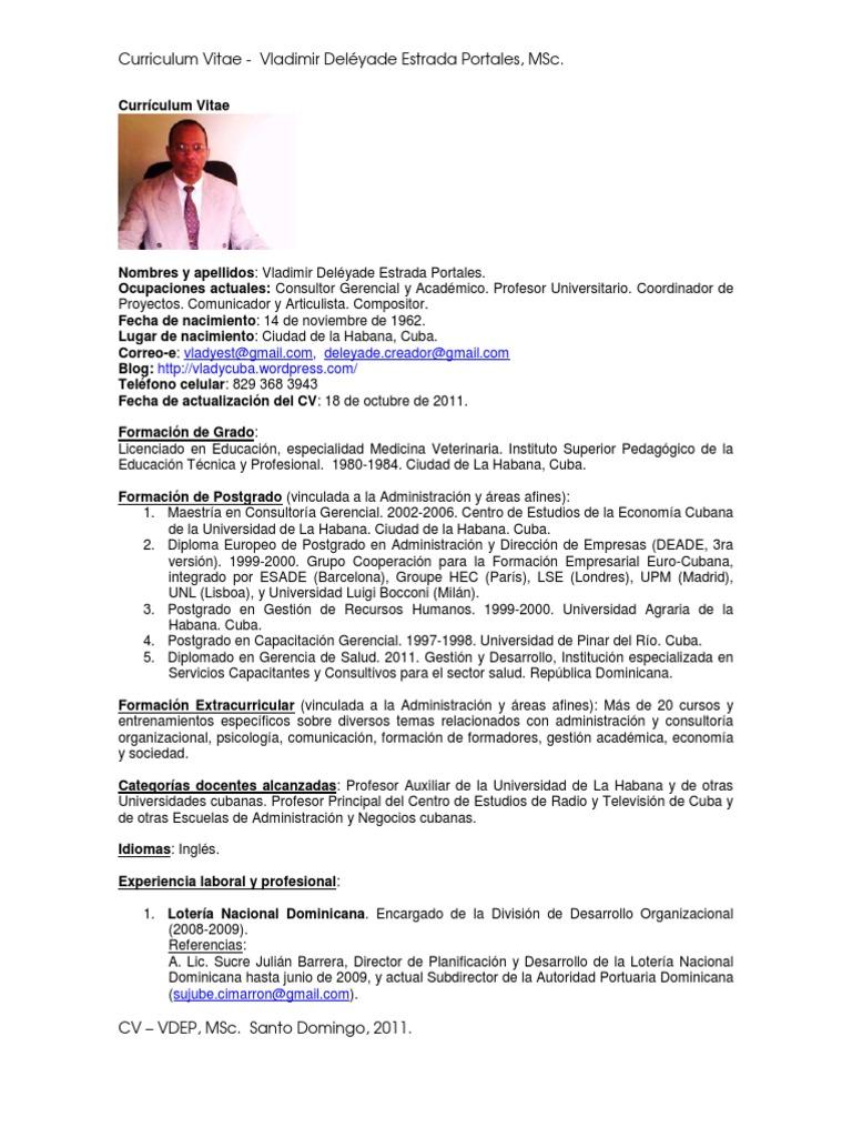 Atractivo Curriculum Vitae De Un Ayudante De Profesor Adorno ...