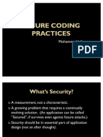 Secure Coding Embedded