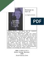 Agatha Christie - Deutsch - Solange Es Hell Ist