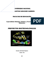 Proyectos Biotecnológicos 2011-I BQTA