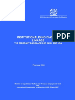 Institutional is Ing Diaspora Linkage - The Emigrant Bangladesh Is in UK and USA Bangladesh Diaspora