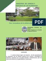 MAESTRIA EN CIENCIA Y TECNOLOGIA DE ALIMENTOS