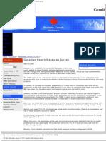 StatsCan 2010 Canadian Health Measures Survey