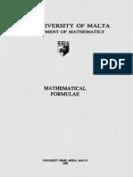 Mathematical Formulae Booklet