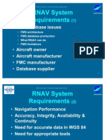 RNAV System Requirements for airplanes