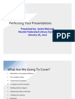 Perfecting Your Presentations