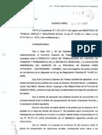Nuevo Convenio Colectivo de Trabajo SUTCAPRA Norma Homologatoria Enero de 2012 HOM-CCT-640-2011-A