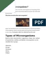 What is Microorganisms