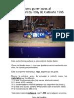 Tutorial Luces Subaru