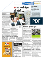 TheSun 2008-11-11 Page08 Five Hand Memo on Road Signs to DCM Council Chief