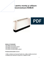 Manual Ventiloconvector NOBUS