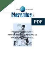Procedimientio para el mantenimiento autónomo de maquinaria en general