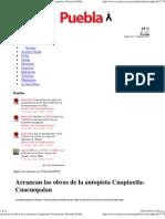 03-01-12 Arrancan Las Obras de La Autopista Cuapiaxtla-Cuacnopalan