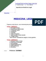 Apostila de Medicina Legal - Zigomar