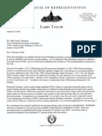 Taylor Letter to TWIA Board