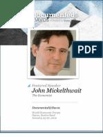 John Micklethwait is Documented@Davos Transcript