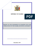 Zra Commission of Inquiry - Final Report