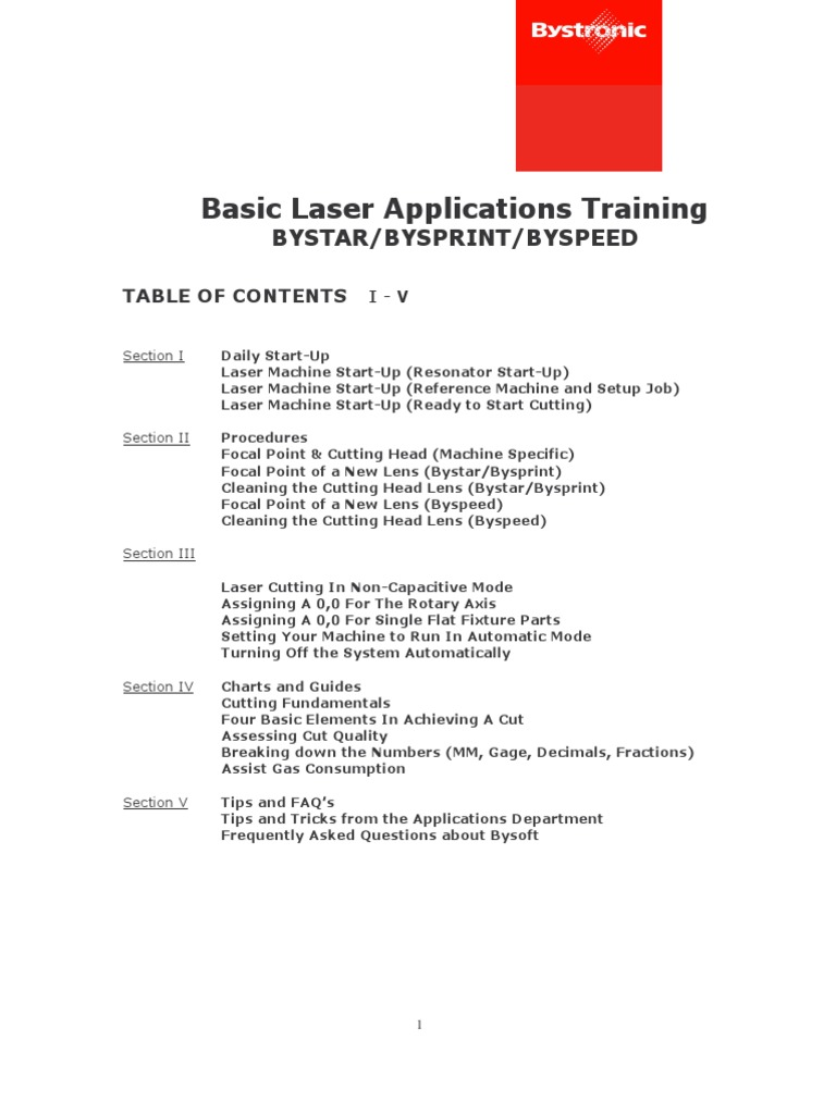 bystronic basic applications manual optics lens optics rh es scribd com