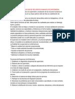 Supervision y Evaluacion de Recursos Humanos de Enfermeria