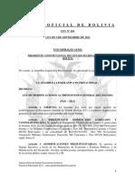 Ley 169 Aprobacion Modificaciones al Presupuesto General del Estado Gestion 2011