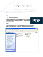 configuracion impresora