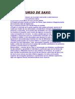 CURSO DE SAXO