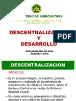 Expo. Descentralización y Desarrollo