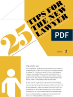 25 Tips for the New Lawyer