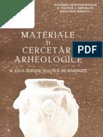 Materiale si cercetari arheologice (MCA), XV, 1981