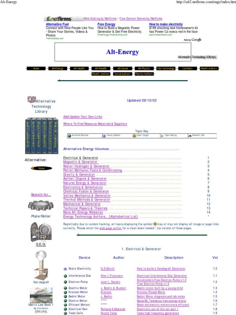 25322265-Alt-Energy   Electric Generator   Engines