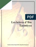 Les Lettres d'Ibn-Taymiya