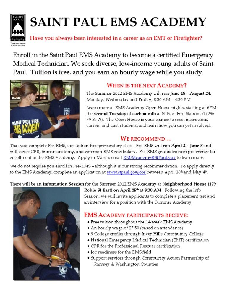 Ems Academy Summer 2012 Emergency Medical Technician Emergency