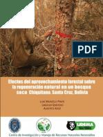 Efectos del Aprovechamiento forestal en un bosque chiquitano- Pinto, Quevedo, Arce. 2011