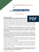 Pino Ciampolillo Querela Assessore ipotesi reato art 594 595 610 c p e……
