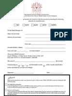 ISKCON Standing Order Form