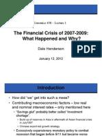 Economics 458 - Lecture 01 120112