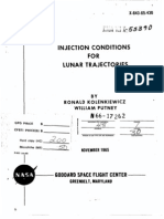 Injection Conditions for Lunar Trajectories