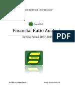 Seprod Ratio Analysis