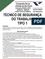 TÉCNICO DE SEGURANÇA DO TRABALHO TIPO 1